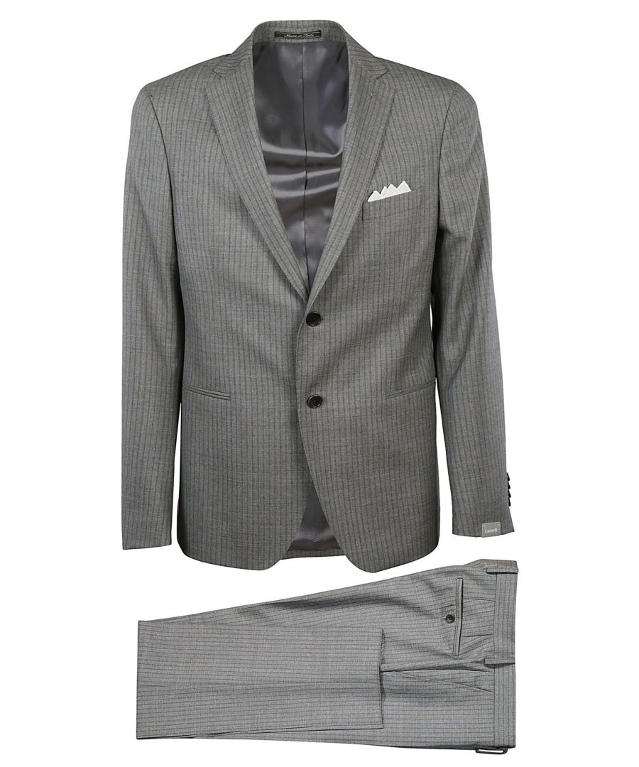 Image for CANTARELLI MEN'S 210322582491031 GREY WOOL SUIT