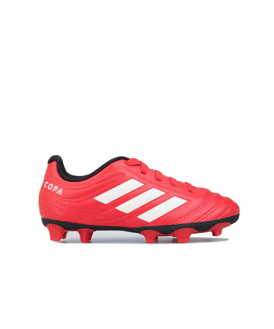 Image for Boy's adidas Children Copa 20.4 FG Football Boots in red white