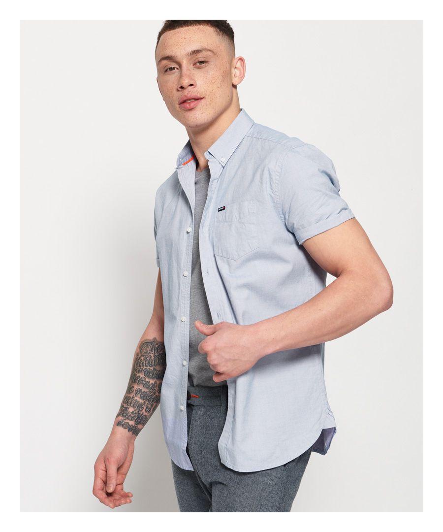 Image for Superdry Premium University Oxford Short Sleeve Shirt