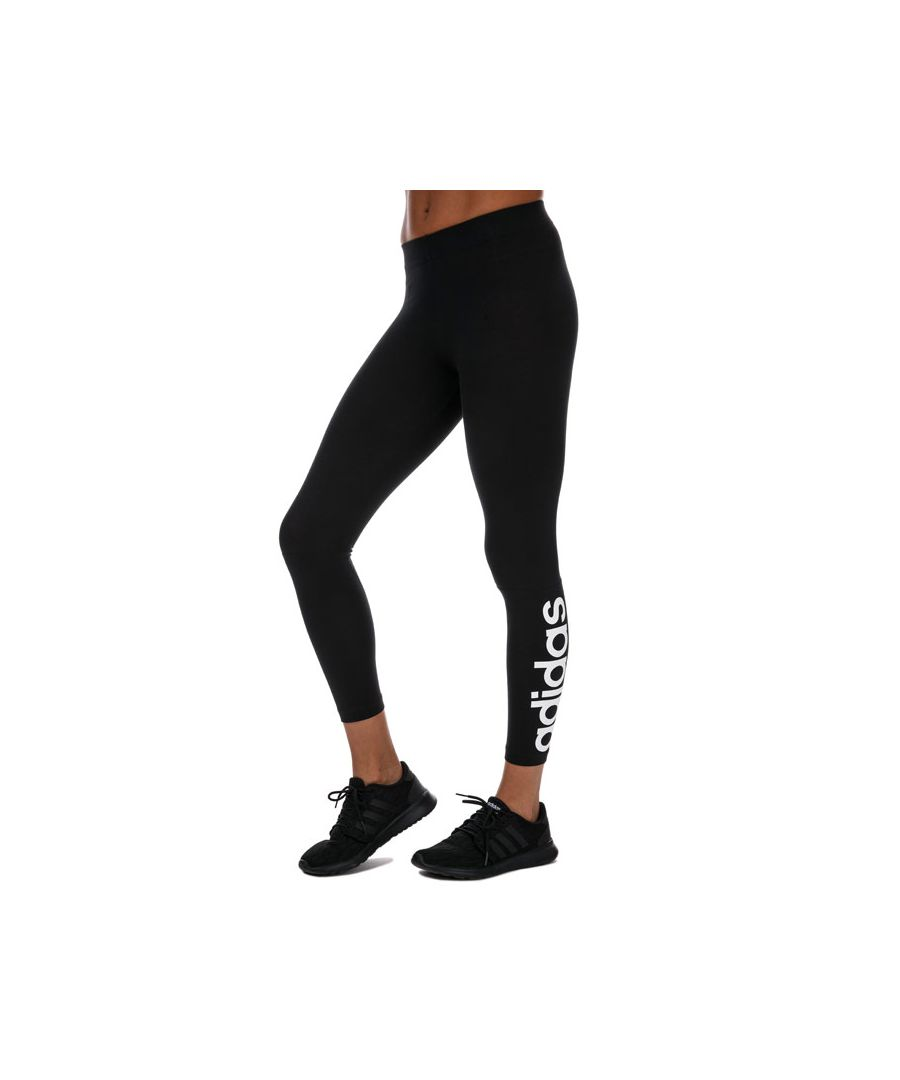 Image for Women's adidas Must Haves 3-Stripes Tights in Black-White