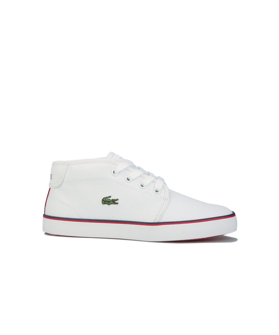 Image for Boy's Lacoste Children Ampthill Trainer Boots in White Navy