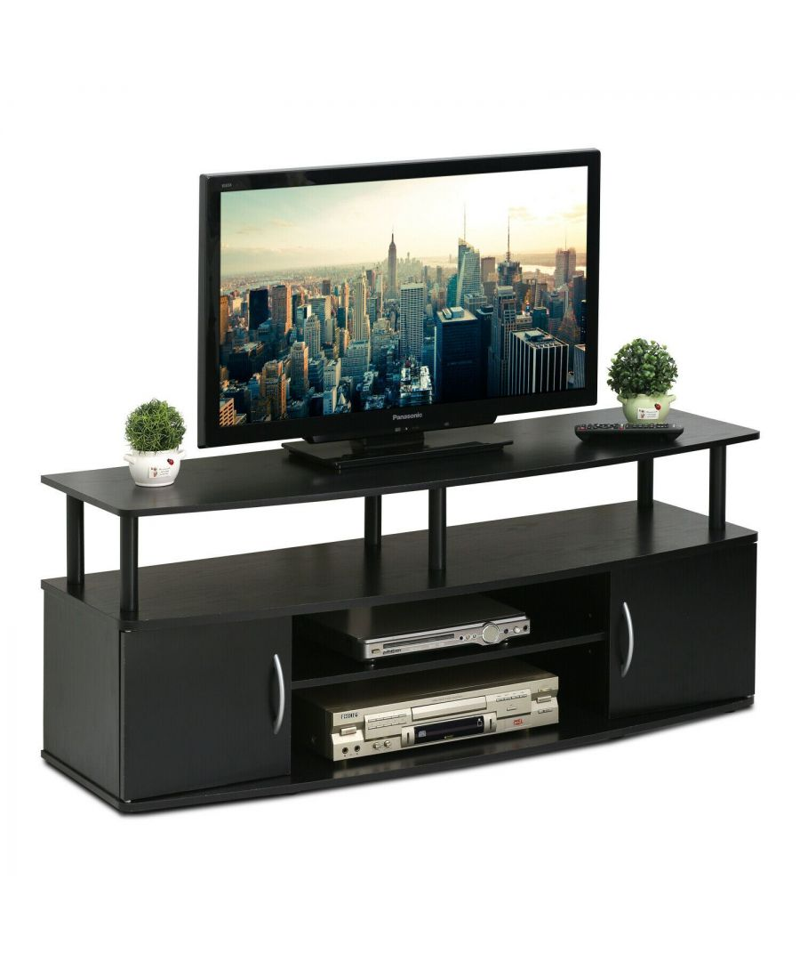 Image for Furinno JAYA Large Entertainment Center Hold up to 50-IN TV - Black