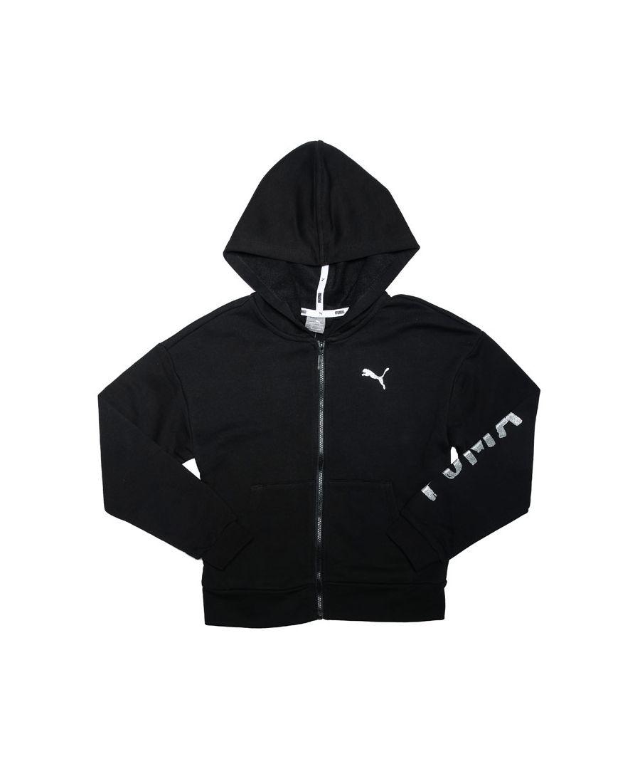 Image for Girl's Puma Junior Alpha Sweat Jacket in Black