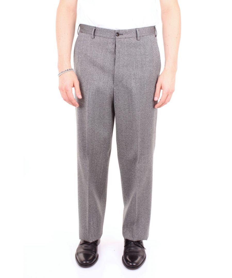 Image for PT01 MEN'S MZ97AF0LB00GHDBLACK BLACK COTTON PANTS