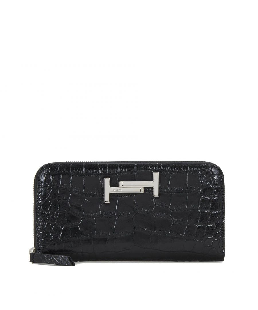 Image for TOD'S WOMEN'S XAWAMEA0400M739999 BLACK LEATHER WALLET