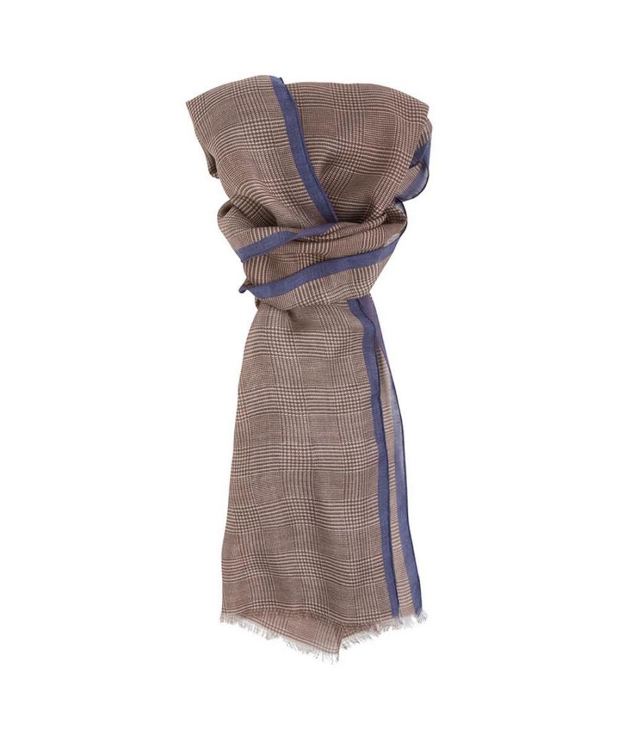 Image for Men's Hackett, POW with Border Scarf in Brown