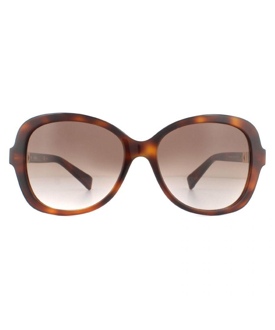 Image for Max Mara Sunglasses Jewel BHZ JD Havana Rose Gold Brown Gradient