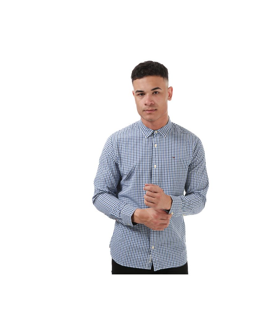 Image for Tommy Hilfiger Men's Gingham Checked Shirt in Blue