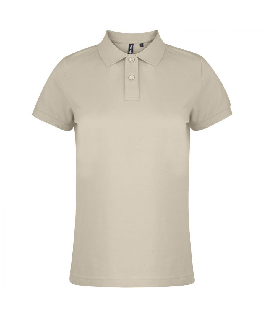 Image for Asquith & Fox Womens/Ladies Plain Short Sleeve Polo Shirt (Natural)