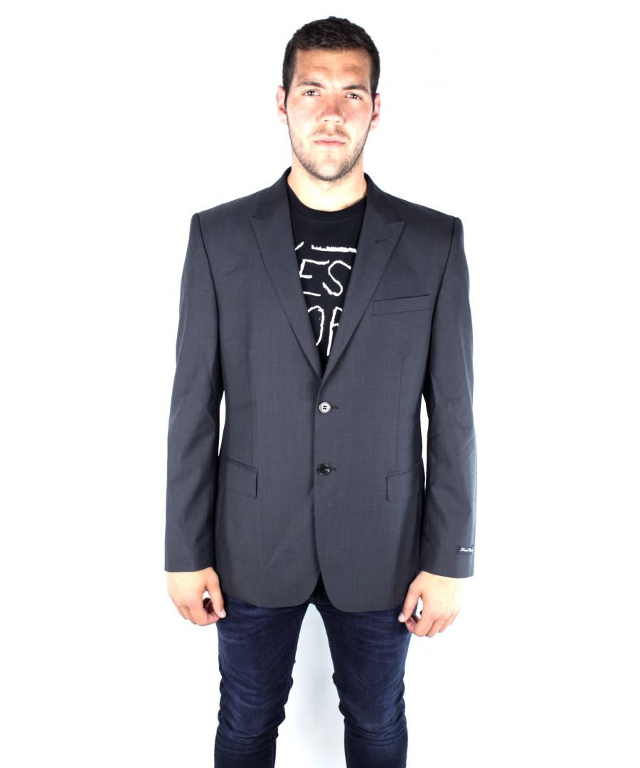 Image for French Connection 55AT9 New York Suiting Dan-SB2-Peak Charcoal Jacket