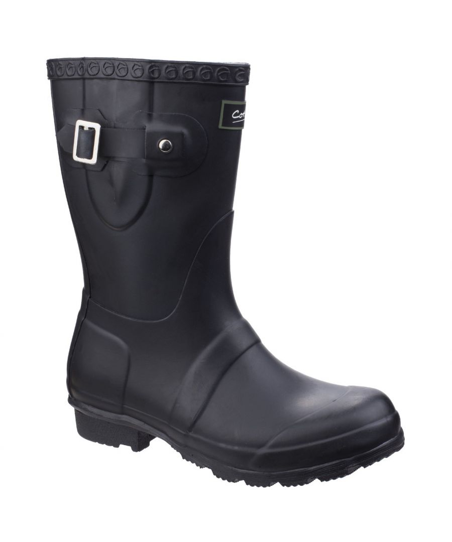 Image for Cotswold Womens/Ladies Windsor Short Waterproof Pull On Wellington Boots (Black)