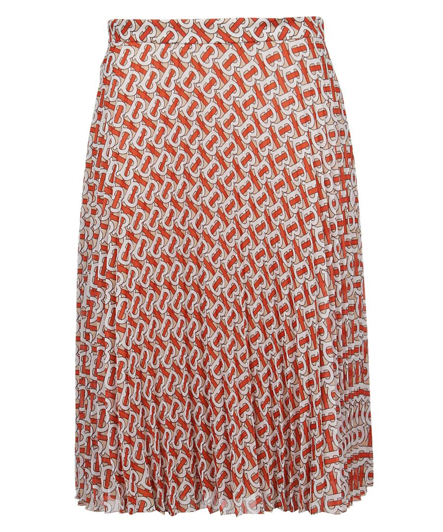 Image for BURBERRY WOMEN'S 8016520 RED POLYESTER SKIRT