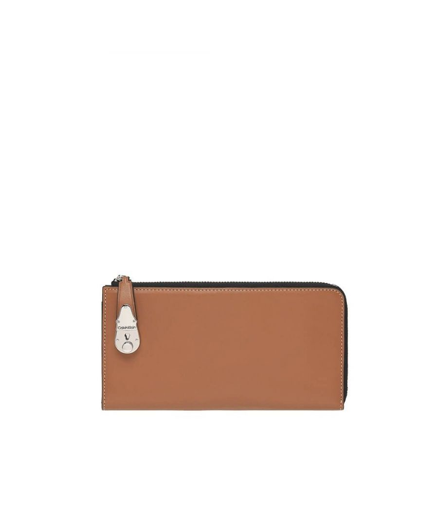 Image for CALVIN KLEIN WOMEN'S K60K606547GAE BROWN LEATHER WALLET