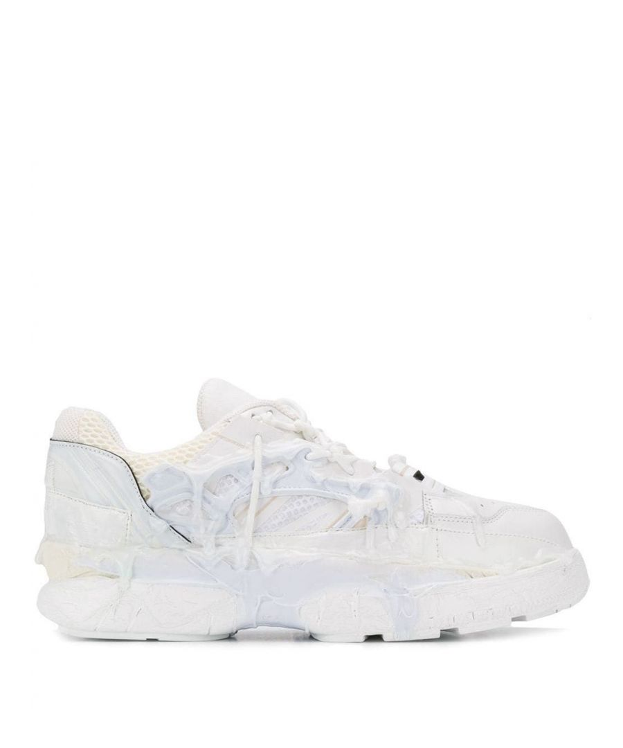 Image for MAISON MARGIELA MEN'S S57WS0257P2695T1003 WHITE LEATHER SNEAKERS