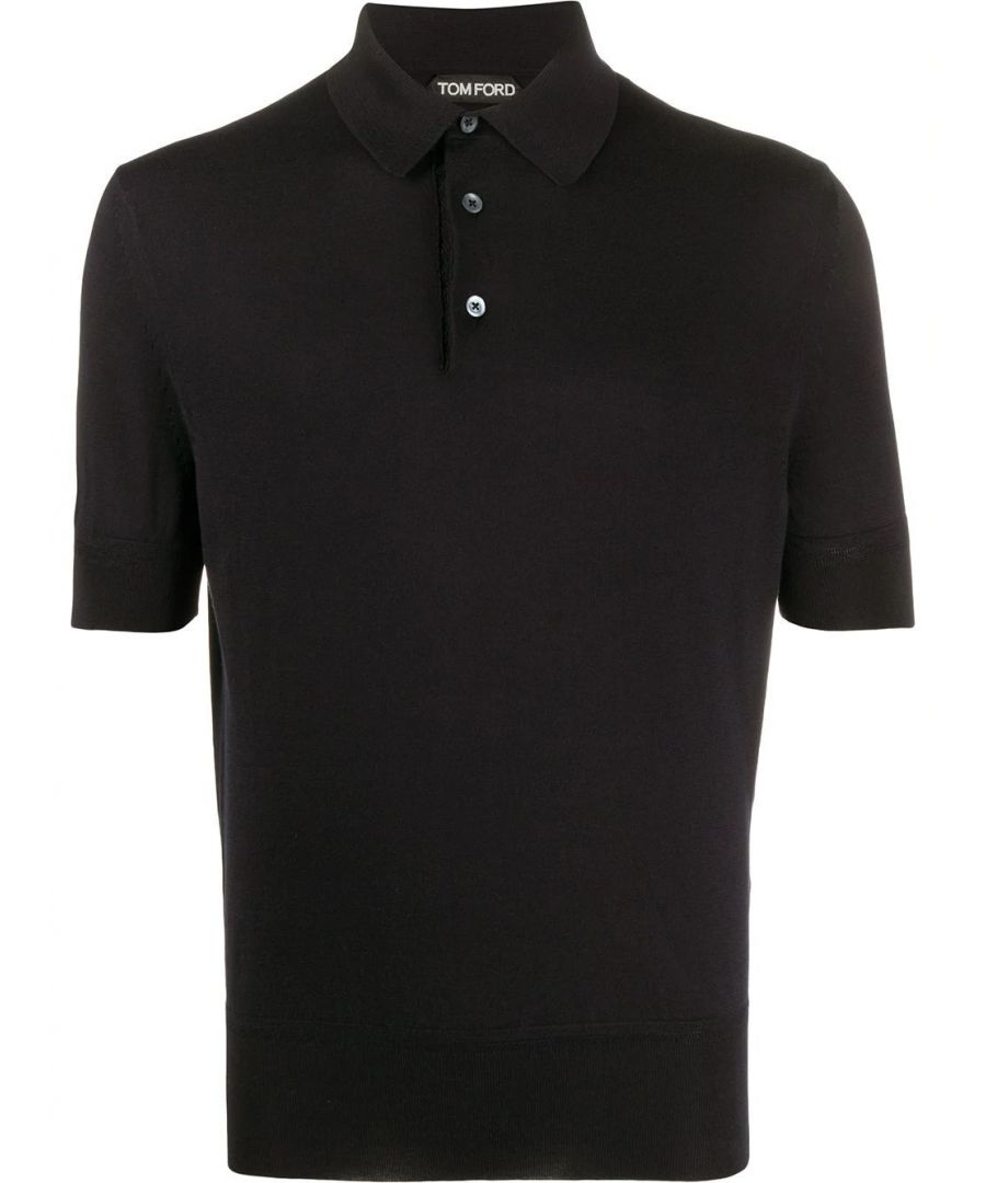 Image for TOM FORD MEN'S TFKC33BUC00K09 BLACK COTTON POLO SHIRT