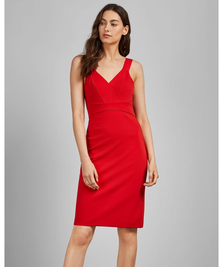 Image for Ted Baker Trixxie Panelled Bodycon Dress, Red