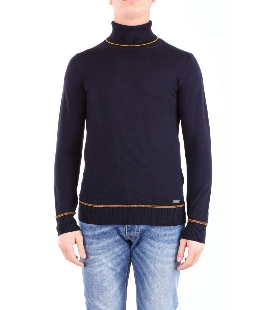 Image for ALESSANDRO DELL'ACQUA MEN'S AD0391DM0069BLUE BLUE WOOL SWEATER