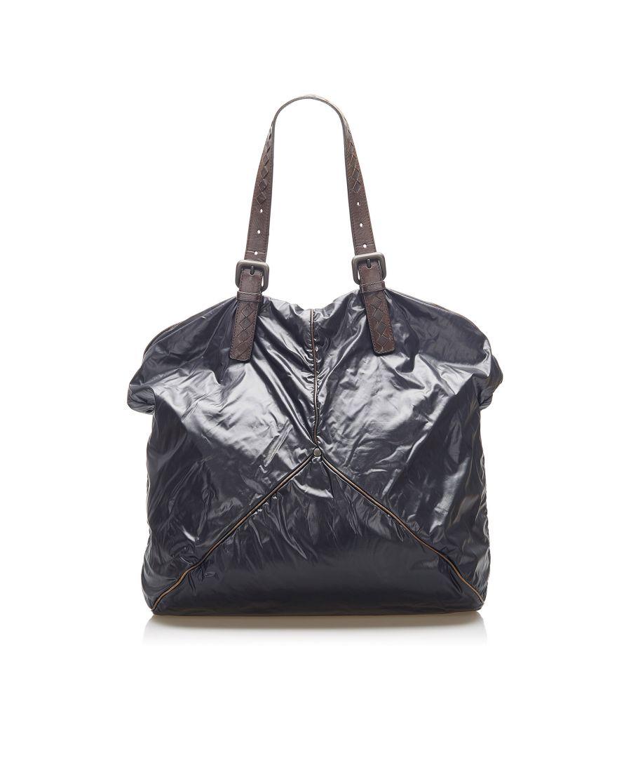 Image for Vintage Bottega Veneta Nylon Tote Bag Black