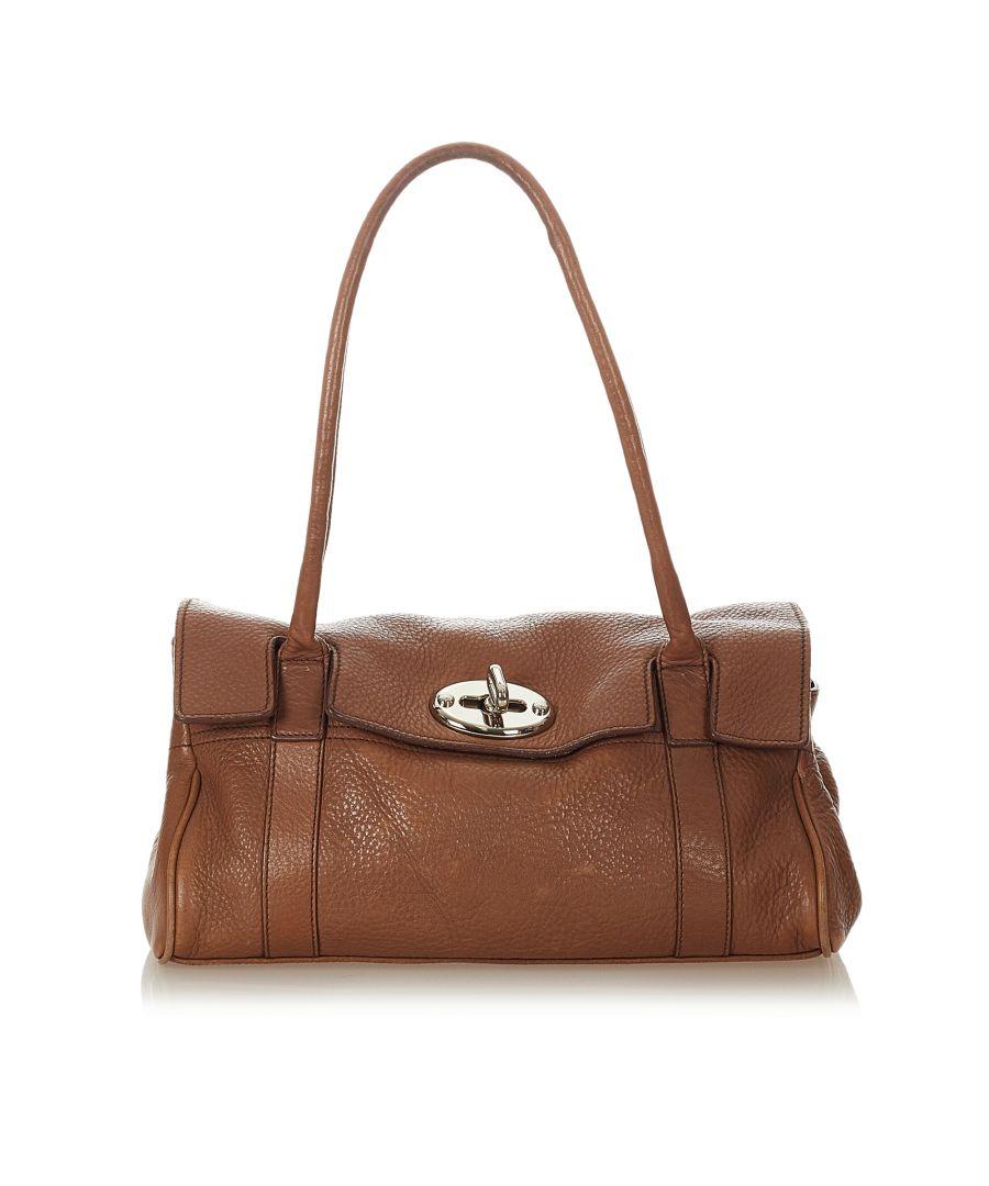 Image for Vintage Mulberry Bayswater Leather Shoulder Bag Brown