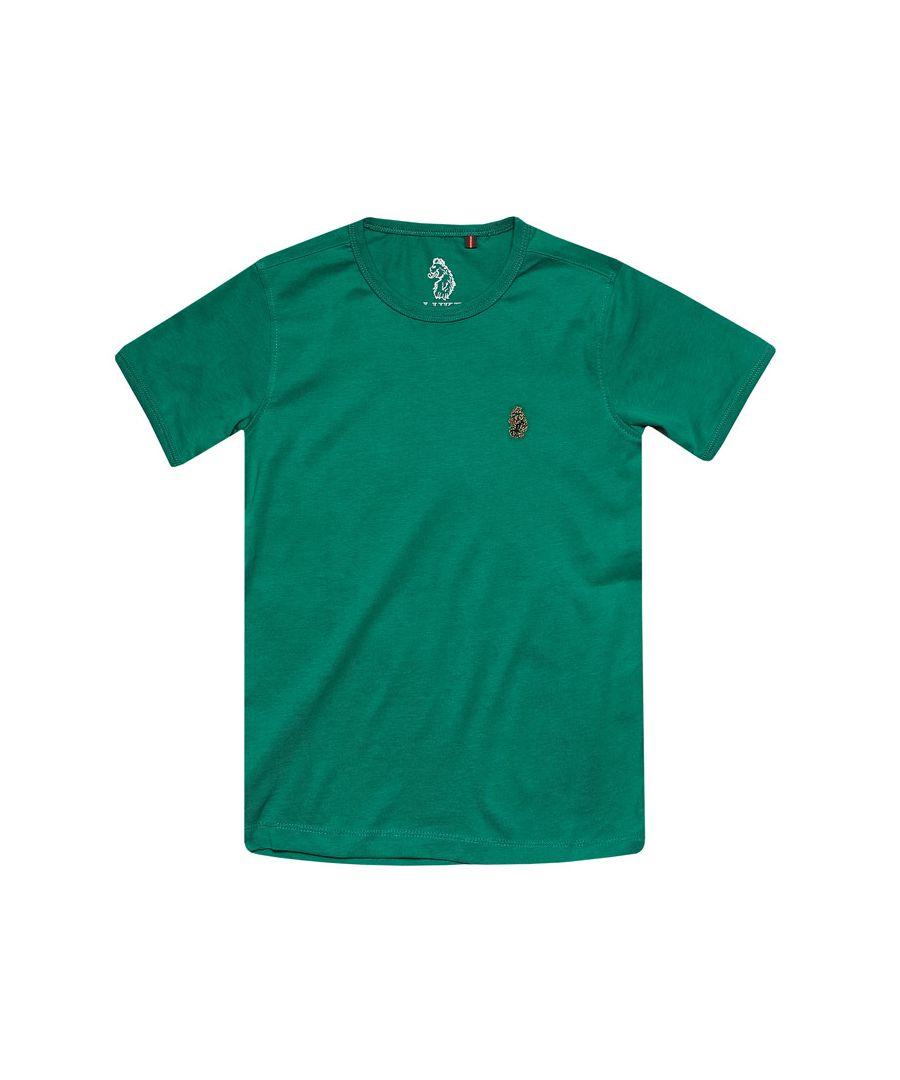 Image for Boys' Luke 1977 Junior Trouser Snake Crew T-Shirt in Green