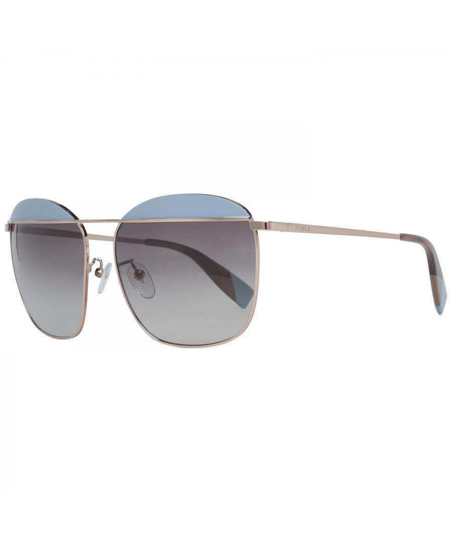 Image for Furla Sunglasses SFU237 08M6 59 Women Rose Gold