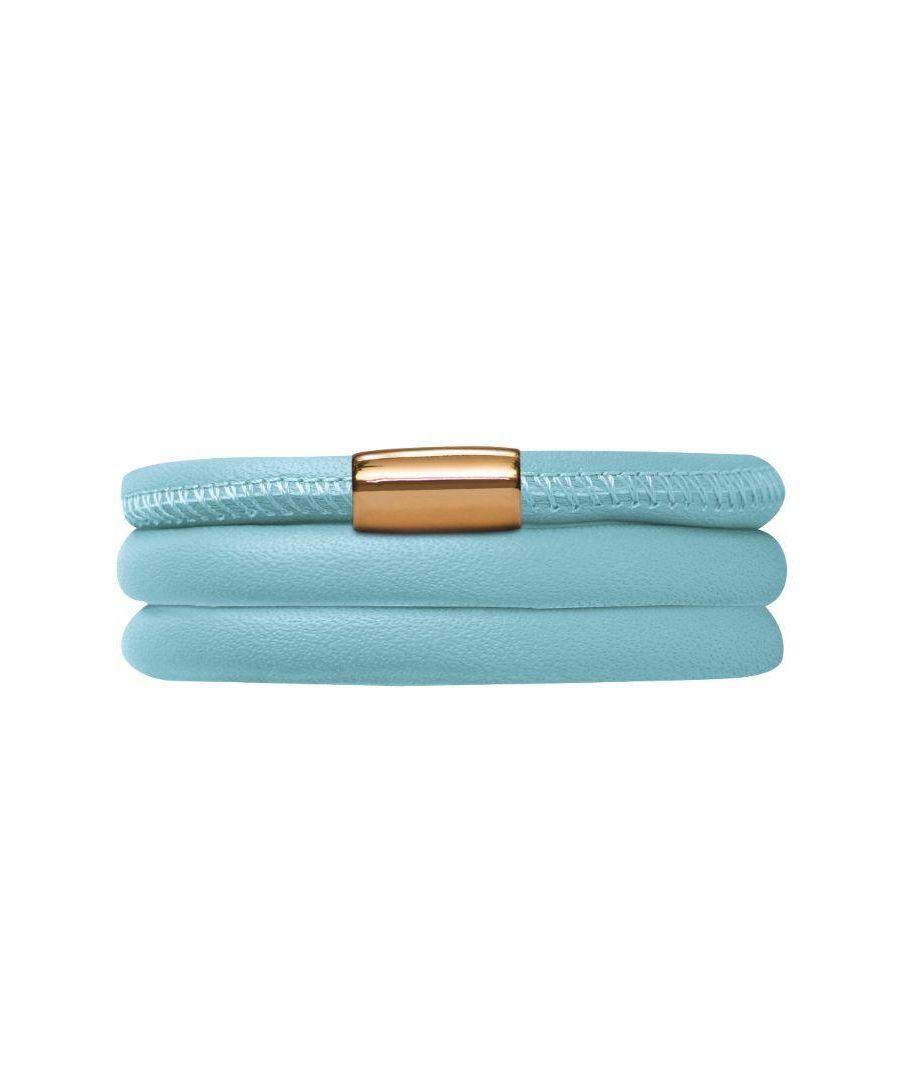 Image for Endless Jewellery Light Blue Leather 57cm-7.5inch Bracelet