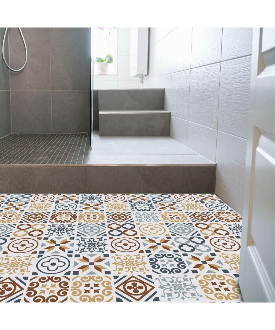 Image for WFS6004 - Azulejo Tiles Floor Sticker 120cm x 60 cm