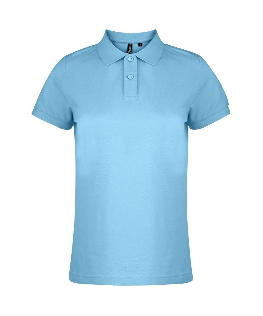 Image for Asquith & Fox Womens/Ladies Plain Short Sleeve Polo Shirt (Cornflower)