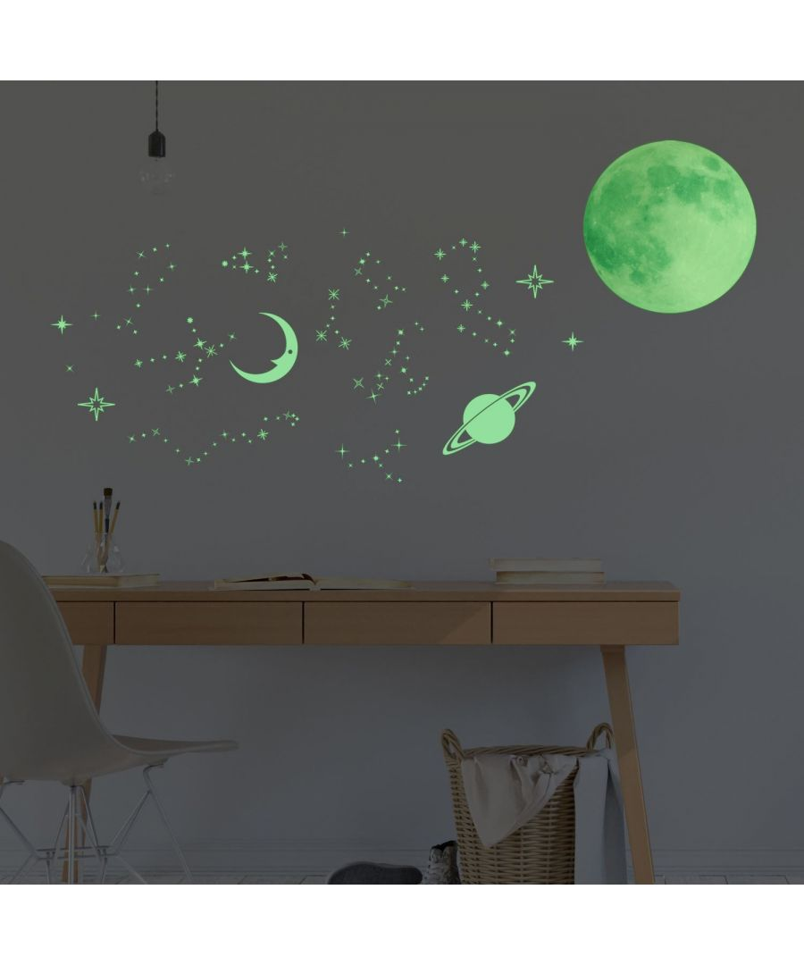 Image for Wall Art - Glow in dark Stars and Moons