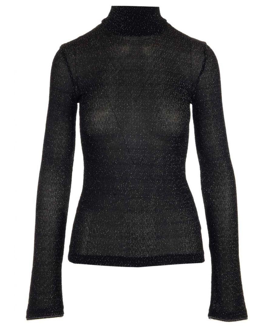 Image for ACNE STUDIOS WOMEN'S AL0091BLACK BLACK VISCOSE SWEATER