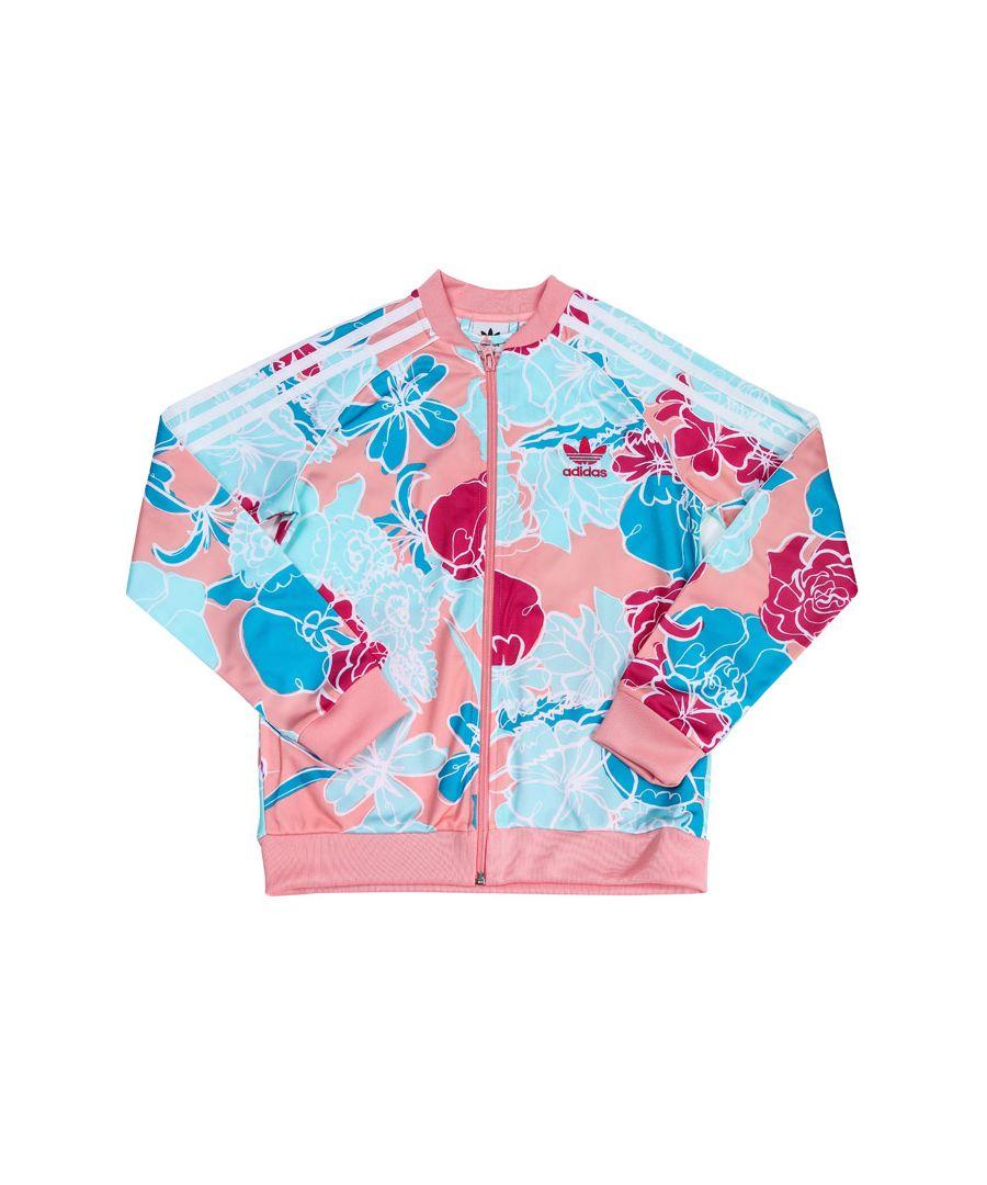 Image for Girl's adidas Originals Junior SST Track Jacket Pink