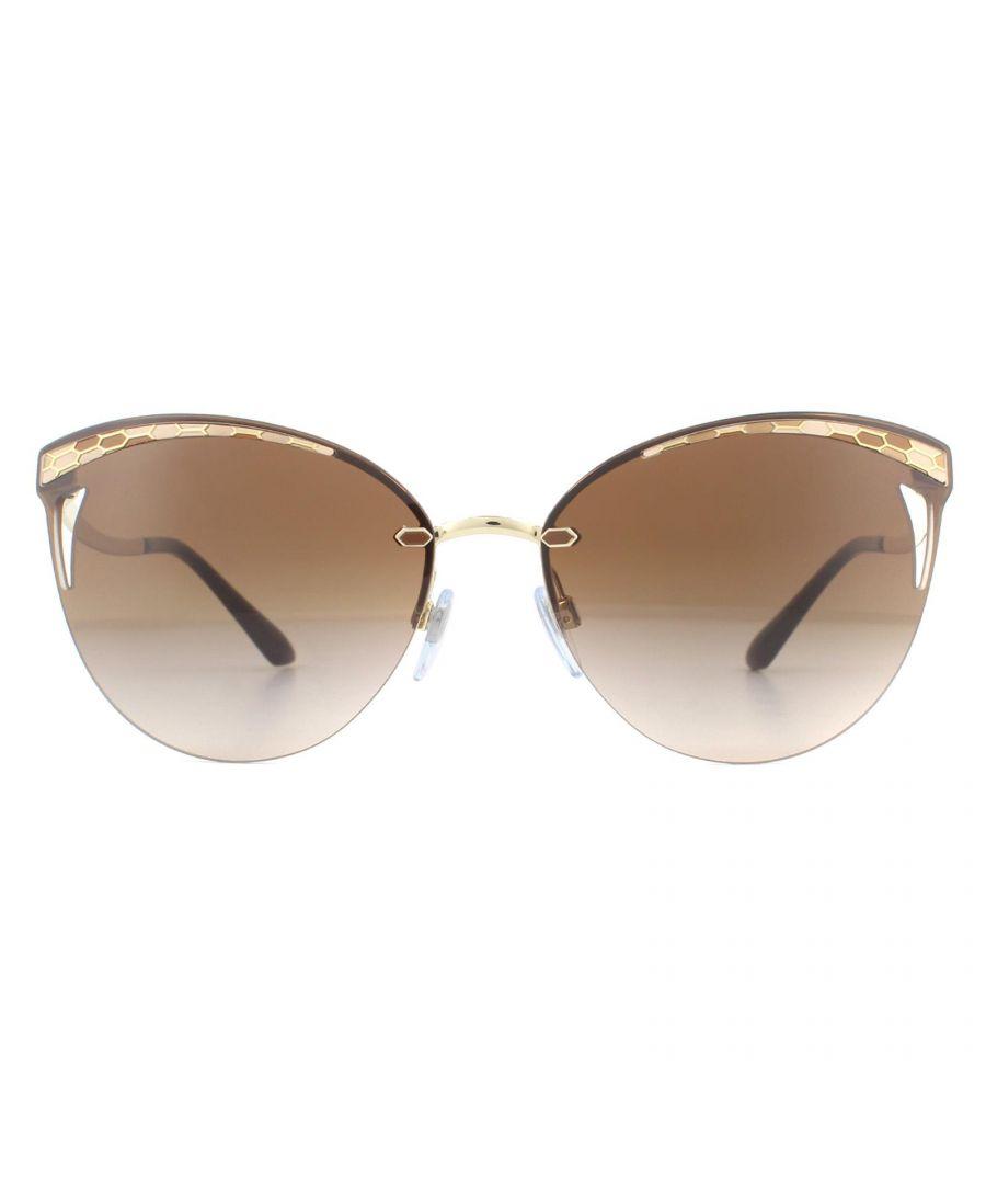 Image for Bvlgari Sunglasses BV6110 278/13 Pale Gold Brown Gradient