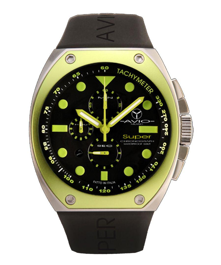 Image for Avio Milano Mens Super Black Watch