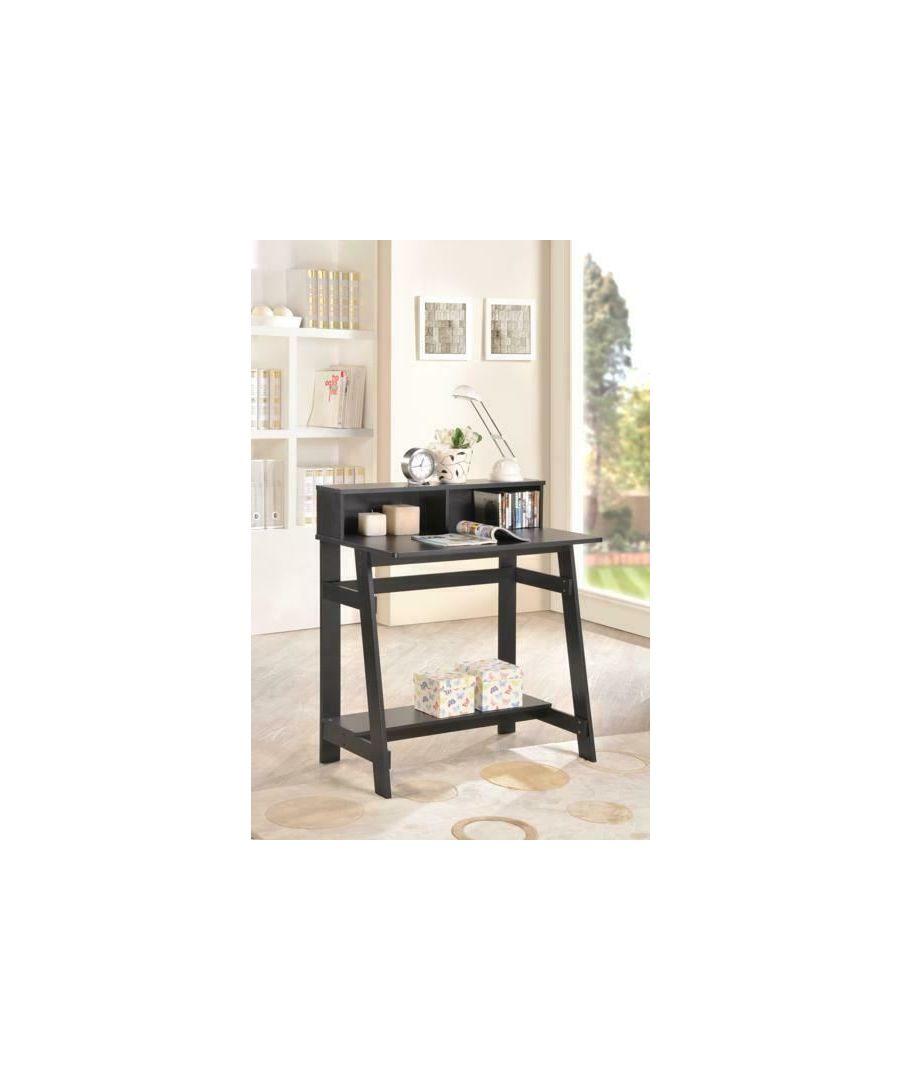 Image for Furinno Simplistic A Frame Computer Desk - Espresso