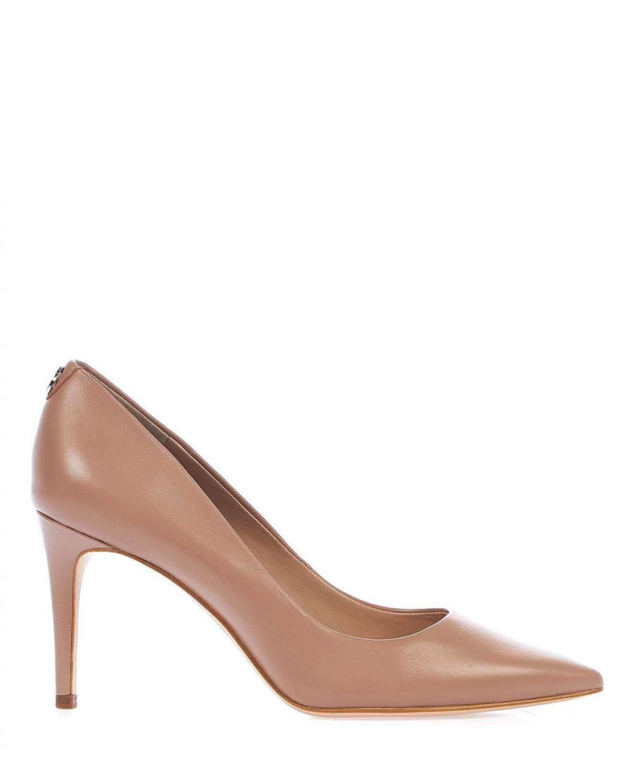 Image for GUESS WOMEN'S FL5BE5LEA08NUDE PINK LEATHER PUMPS
