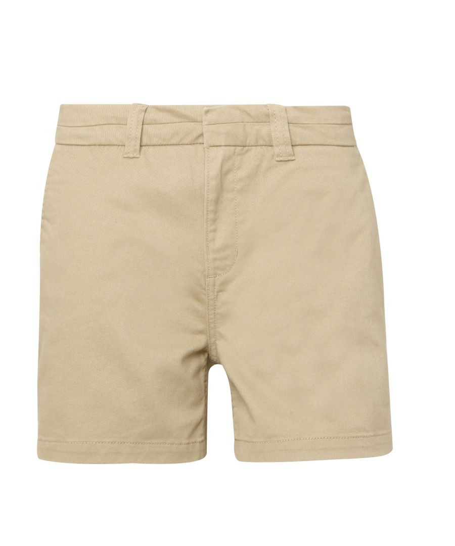 Image for Asquith & Fox Womens/Ladies Classic Fit Shorts (Khaki)