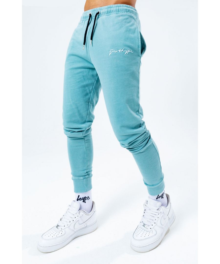 Image for Hype Teal Acid Wash Men'S Joggers