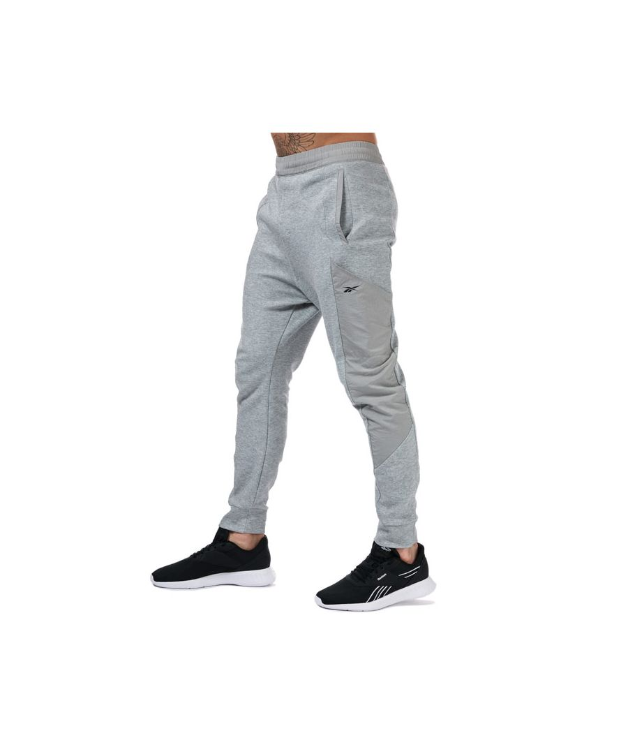 Image for Men's Reebok Knit-Woven Jogger Pants in Grey Heather