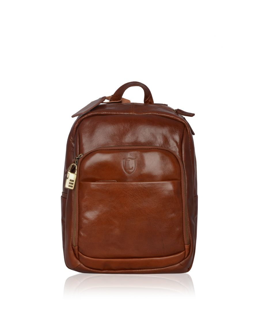 Image for Fenton Leather Rucksack in Chestnut Brown