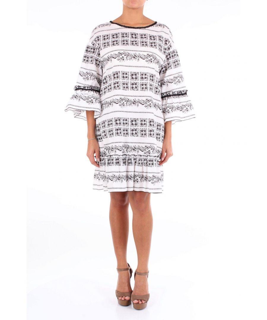Image for BLUMARINE WOMEN'S 3367WHITE WHITE COTTON DRESS