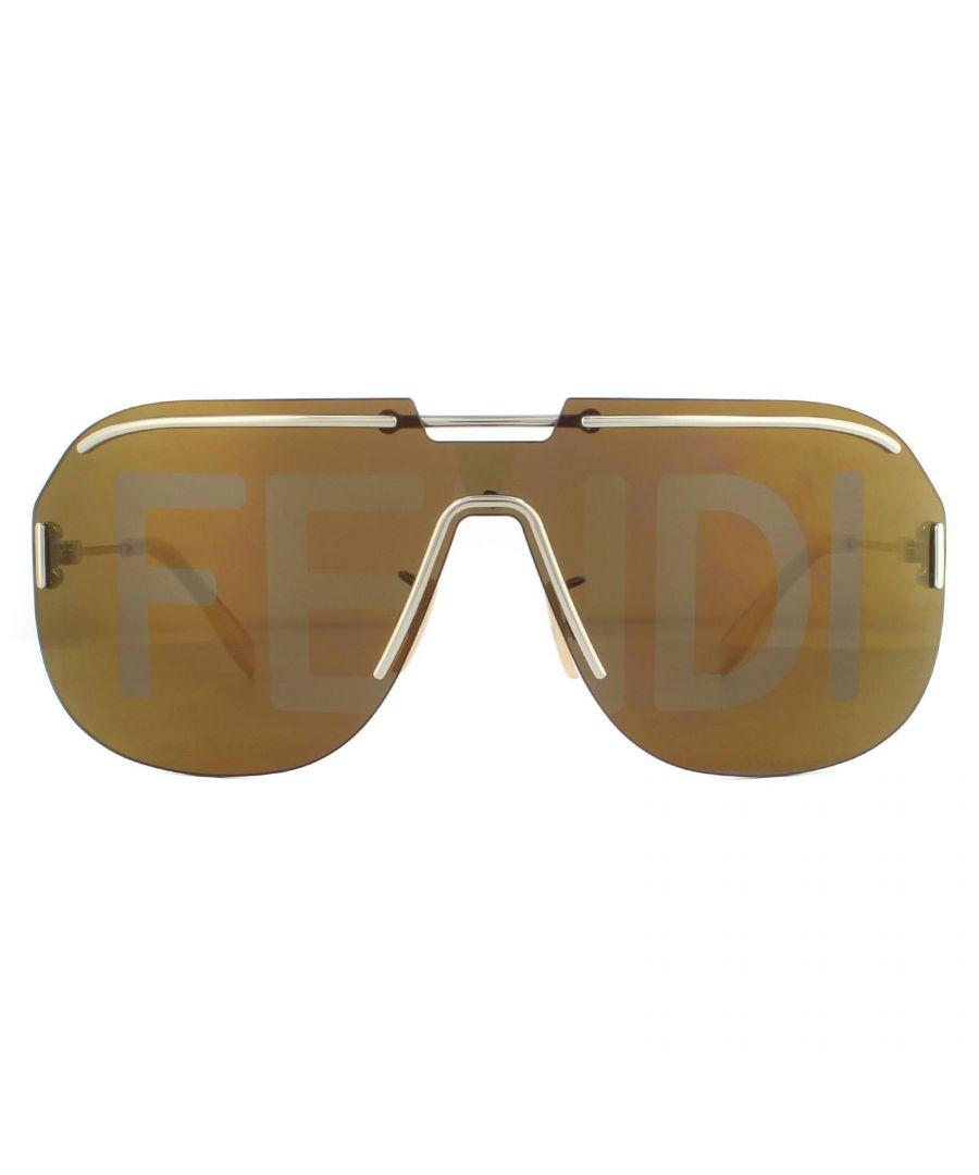 Image for Fendi Sunglasses FFM0098/S 3YG EB Light Gold Brown Mirror Gold