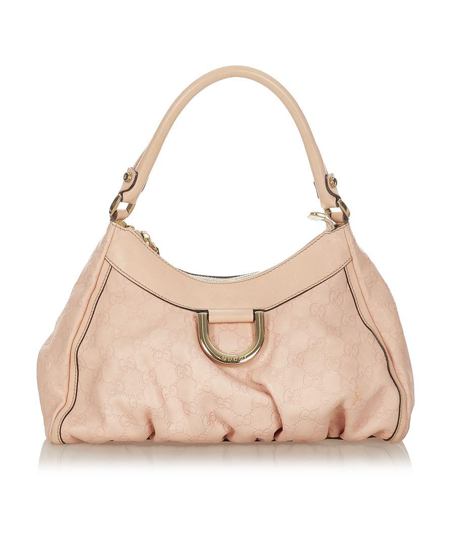 Image for Vintage Gucci Guccissima Abbey D-Ring Shoulder Bag Pink