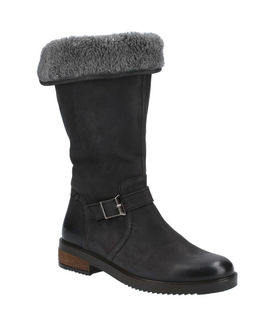 Image for Hush Puppies Women's Bonnie Leather Mid Boots (Black)