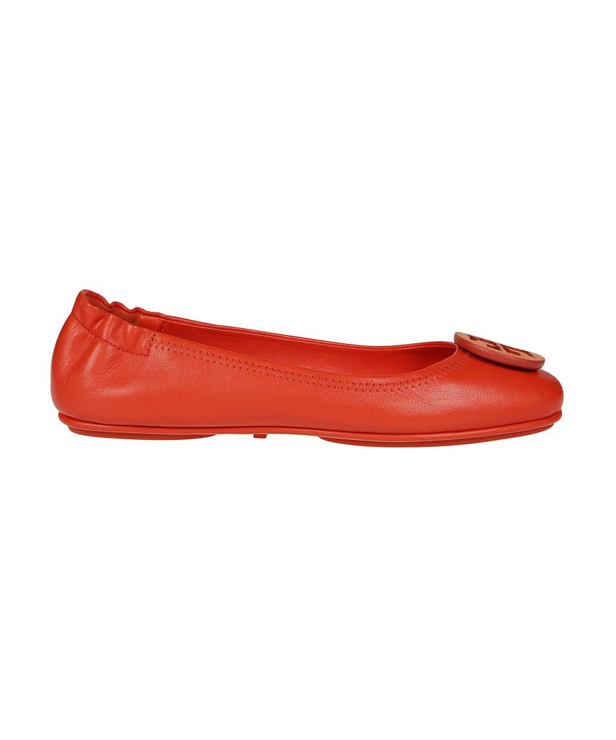 Image for TORY BURCH WOMEN'S 56464811 RED LEATHER FLATS