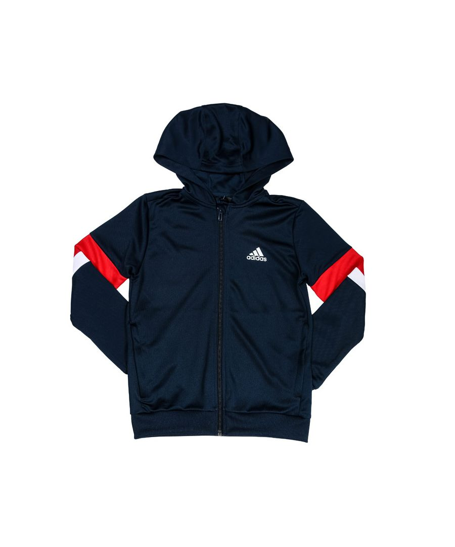 Image for Boys' adidas Junior Equipment Zip Hoodie Navy Red White 7-8In Navy Red White