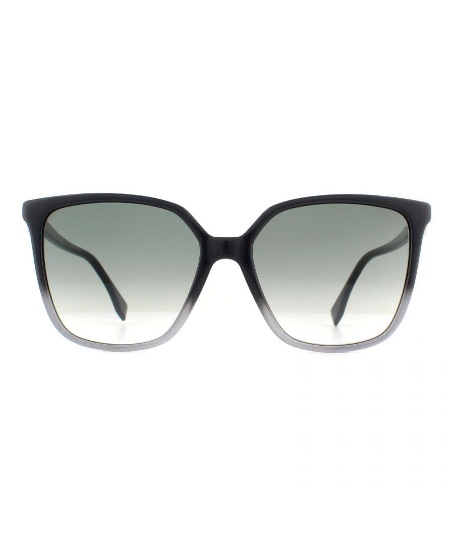 Image for Fendi Sunglasses FF 0318/S KB7 9O Grey Gradient Grey Gradient