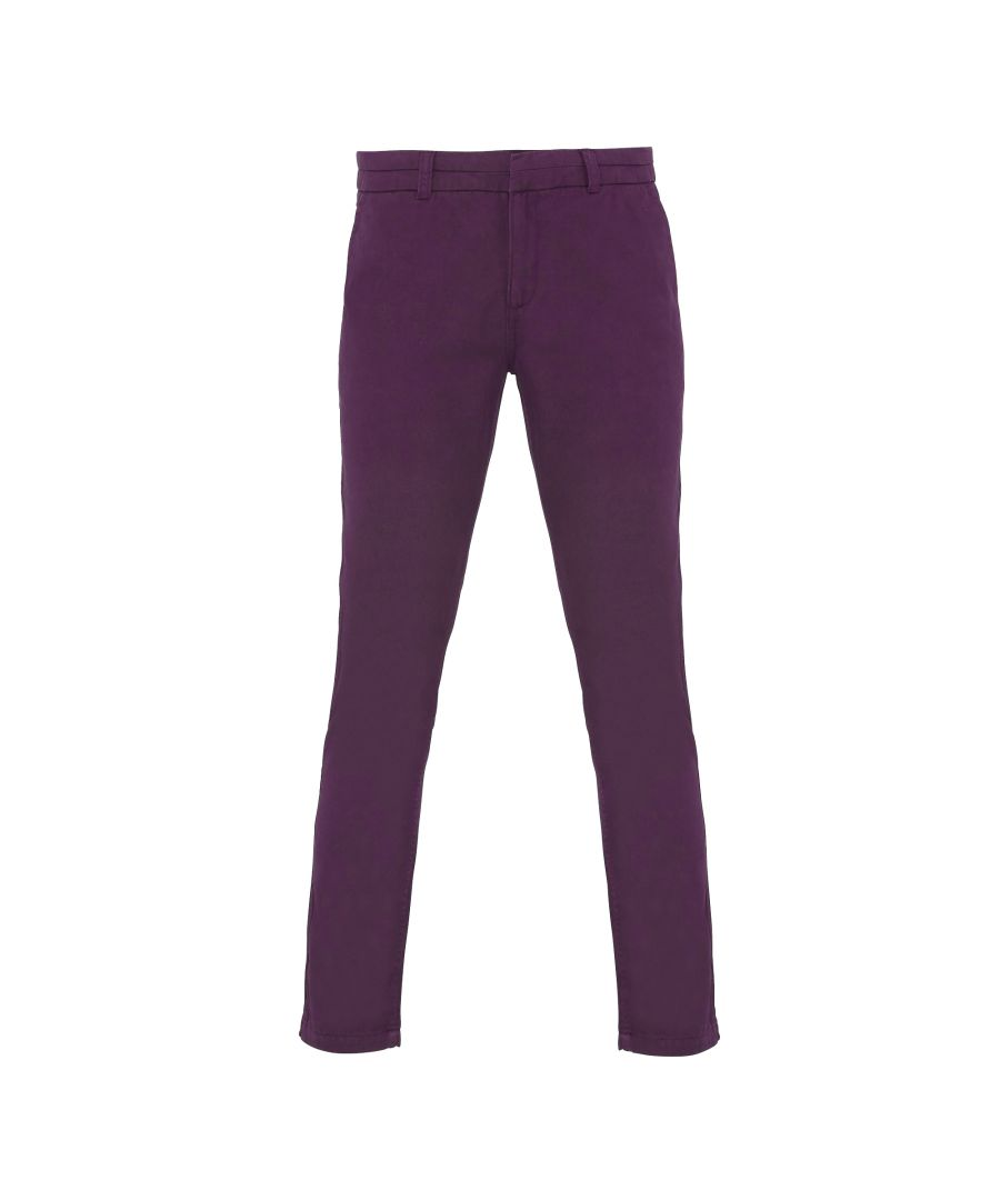 Image for Asquith & Fox Womens/Ladies Casual Chino Trousers (Purple)