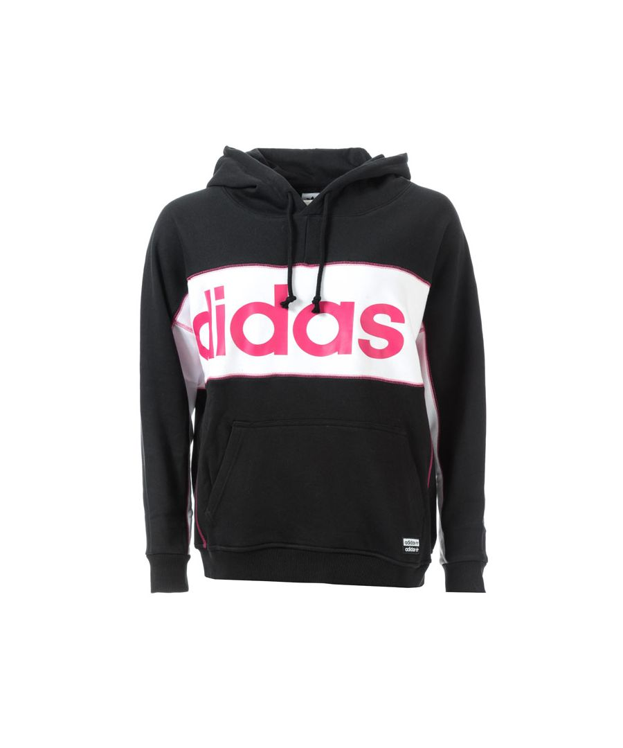 Image for Women's adidas Originals Long Hoody in Black-White