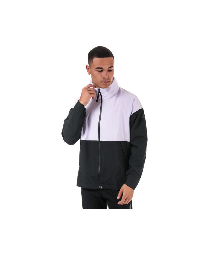 Image for Men's adidas Urban RAIN.RDY Rain Jacket in Purple black