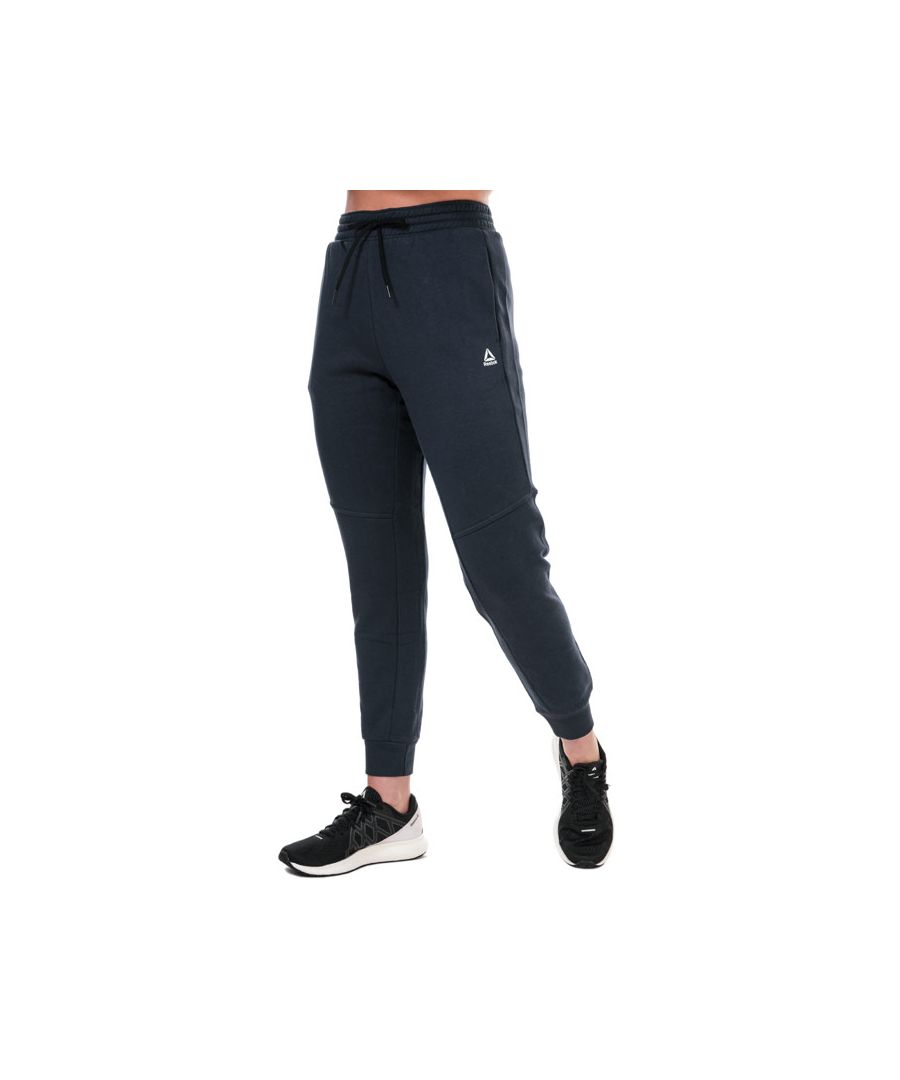 Image for Women's Reebok Training Essentials Linear Logo Pants in Navy